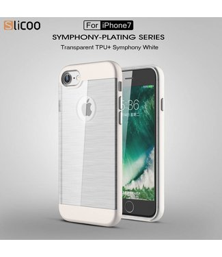 Slicoo Slicoo TPU/PC Backcase iPhone 7/8 - Wit