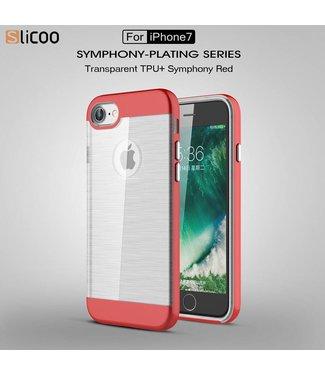 Slicoo Slicoo TPU/PC Backcase iPhone 7/8 - Rood