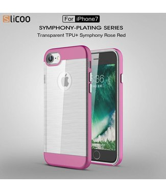 Slicoo Slicoo TPU/PC Backcase iPhone 7/8 - Paars