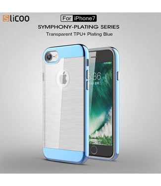 Slicoo Slicoo TPU/PC Backcase iPhone 7/8 - Blauw