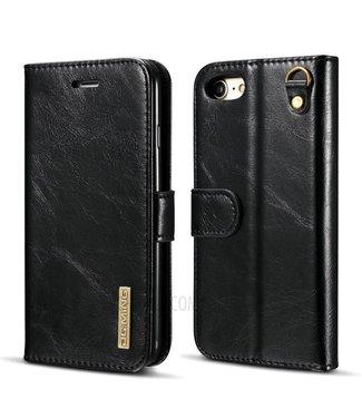 DG-Ming DG-Ming Magnetische Leren Wallet met Verwijderbare Backcase iPhone 7/8 - Zwart