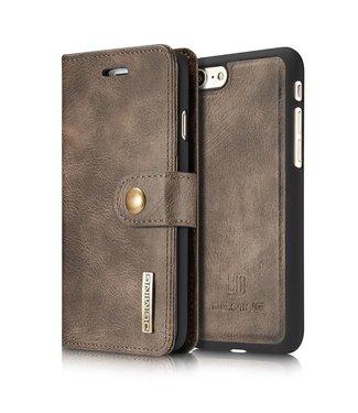 DG-Ming DG-Ming Magnetische Leren Wallet iPhone 7/8 - Coffee Bruin