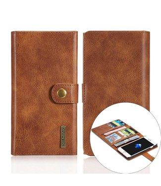 DG-Ming DG-Ming Luxe Magnetische Leren Wallet iPhone 7/8 plus - Bruin
