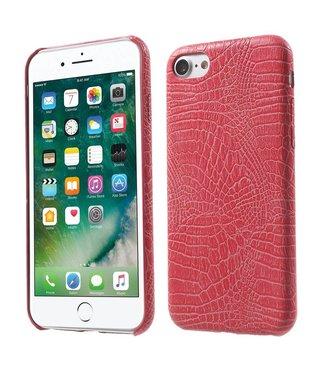Crocodile PU Leren Hardcase iPhone 7/8 - Roze