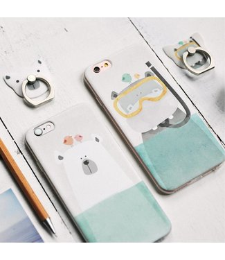Maoxin Maoxin Seven TPU Softcase iPhone 6(s) - IJsbeer Transparant