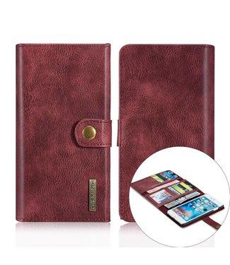 DG-Ming DG-Ming Luxe Magnetische Leren Wallet iPhone 6(s) plus - Wijnrood