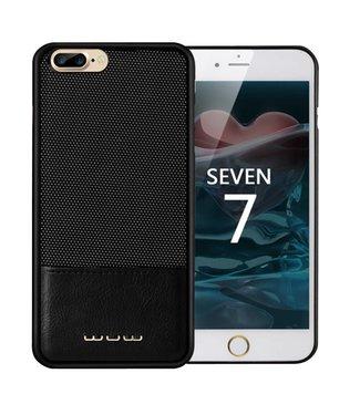 JLW JLW PC/PU Leren Hardcase iPhone 7/8 plus - Zwart