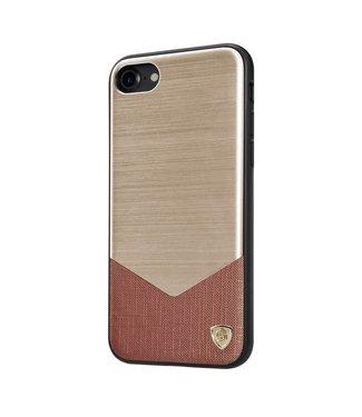 Nillkin Nillkin Aluminium/PC Hardcase iPhone 7/8/SE 2020 - Goud Bruin