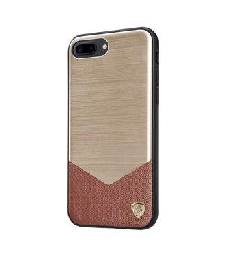 ZWC Nillkin Aluminium/PC Hardcase iPhone 7/8 plus - Goud Bruin