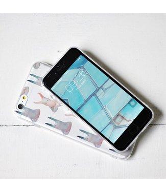 Maoxin Maoxin In TPU Softcase iPhone 6(s) - Mediterende Konijnen