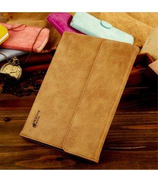 Golden Phoenix Golden Phoenix Split Leren Hoes iPad Mini 1/2/3 - Kaki Bruin