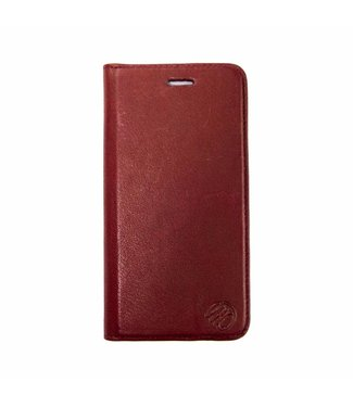 Imoshion Imoshion Leren Wallet iPhone 6(s) - Bruin / Rood