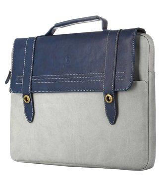 Baseus Baseus PU Leren Draagtas iPad/Macbook 13.3 inch - Blauw/Grijs
