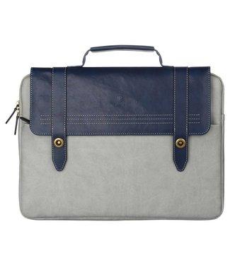 Baseus PU Leren Draagtas iPad/Macbook 13.3 inch - Blauw/Grijs