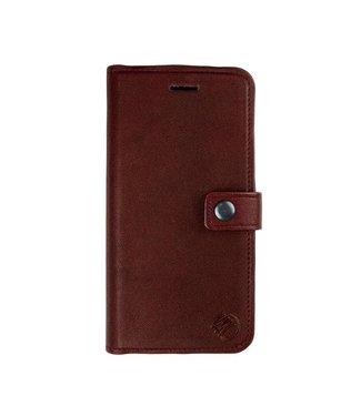 Imoshion 2-in-1 Leren Magnetische Wallet iPhone 7/8/SE 2020-Bruin/Rood