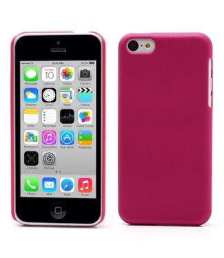 Hardcase Rubber Coating iPhone 5c - Donker Roze