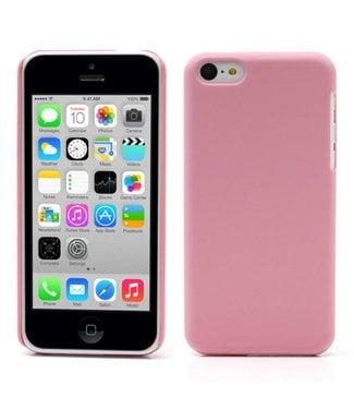 Hardcase Rubber Coating iPhone 5c - Roze