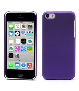 Hardcase Rubber Coating iPhone 5c - Paars
