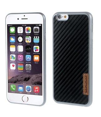 JLW JLW PC Carbon Hardcase iPhone 6(s) - Zilver/Zwart