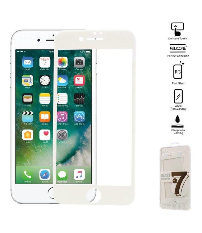 Seven iPhone 6(s)/7/8 Edge To Edge Gehard Glas Screenprotector - Wit