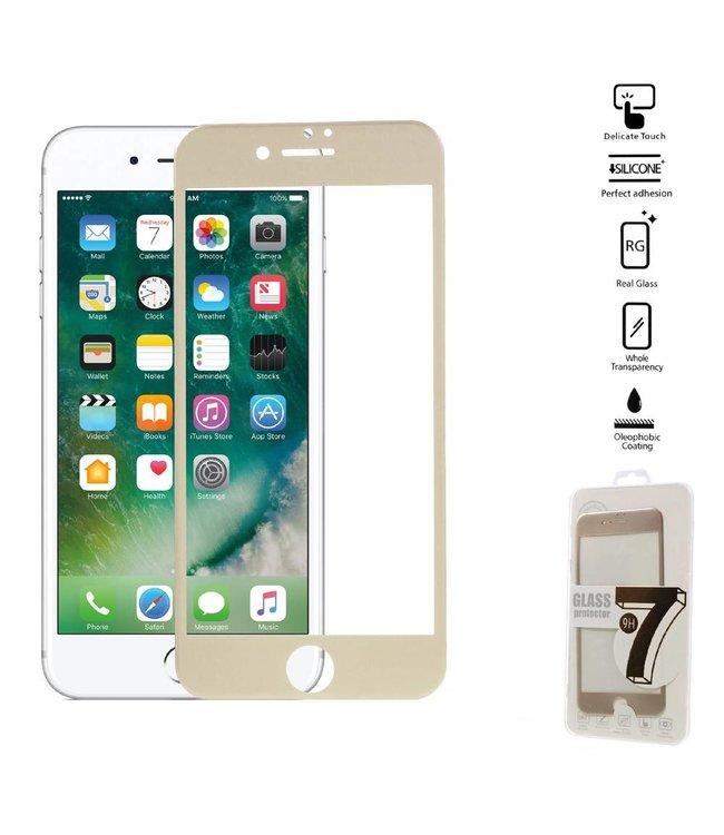 Seven iPhone 6(s)/7/8 Edge To Edge Gehard Glas Screenprotector - Goud