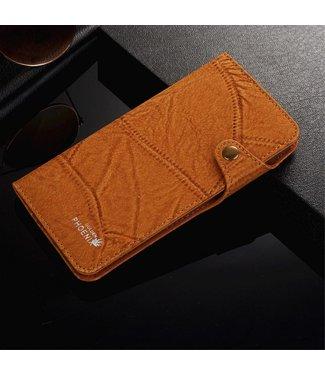 Golden Phoenix Golden Phoenix Leren Wallet iPhone 7/8 plus - Bruin