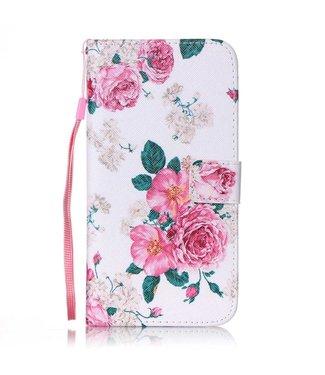 ZWC PU Leren Color Wallet iPhone 7/8 plus - Rozen Wit