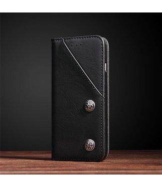 ZWC Gesp PU Leren Wallet iPhone 7/8/SE 2020 - Zwart