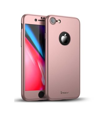 iPaky iPaky Hardcase + Screenprotector iPhone 7/8 - Rosé Goud