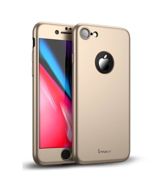 iPaky Hardcase + Screenprotector iPhone 7/8 - Goud