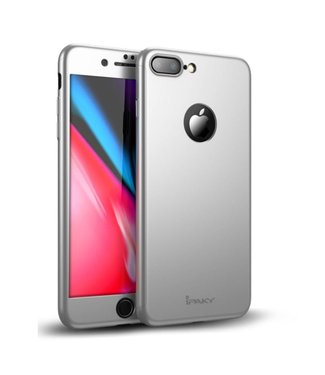 iPaky Hardcase + Screenprotector iPhone 7/8 plus - Zilver