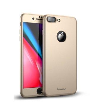 iPaky Hardcase + Screenprotector iPhone 7/8 plus - Goud