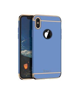 iPaky iPaky 3-in-1 Hardcase iPhone X - Blauw/Goud