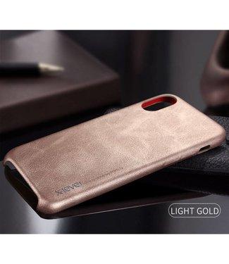 ZWC Luxe Leren Backcase iPhone X - Goud Bruin