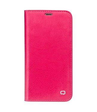Qialino De Qialino Leren Wallet iPhone X - Roze
