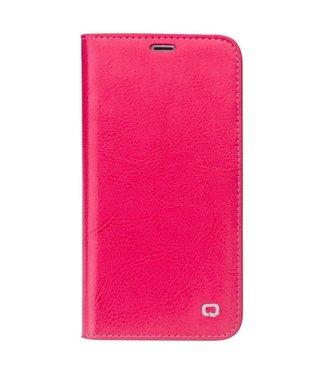 Qialino Leren Wallet iPhone X - Roze