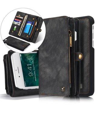 Caseme Caseme Luxe Leren Wallet iPhone X - Antraciet Zwart