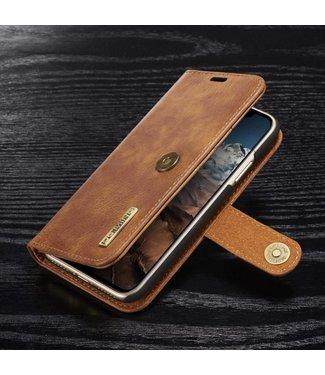 DG-Ming DG-Ming Magnetische Leren Wallet iPhone X - Kaki Bruin