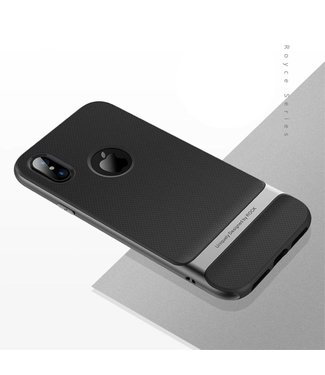 Rock Rock Royce TPU/PC Cover iPhone X - Grijs