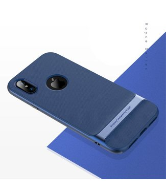 Rock Rock Royce TPU/PC Cover iPhone X - Blauw