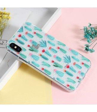 TPU Print Softcase iPhone X - Cactussen