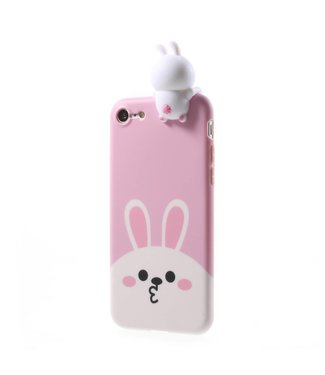 ZWC Cute TPU Softcase iPhone 7/8 - Konijn