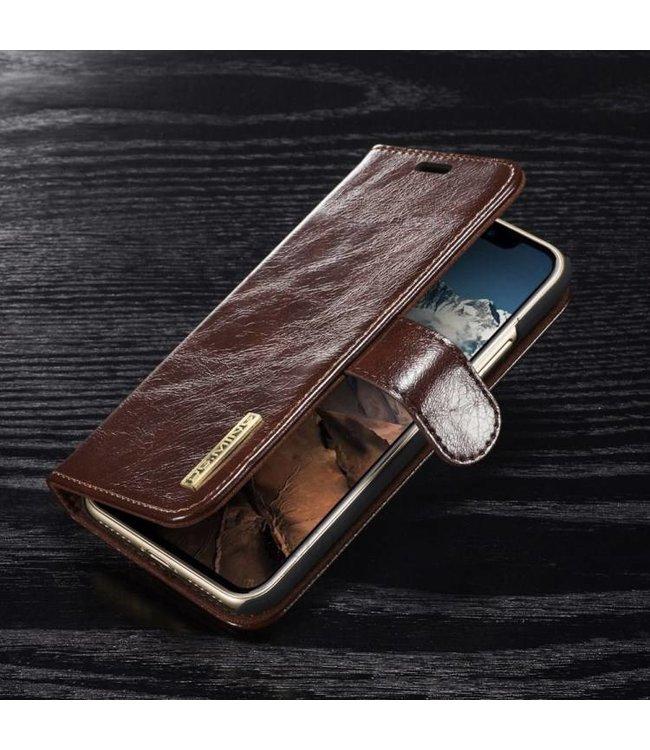 DG-Ming DG-Ming Magnetische Leren Wallet iPhone X - Coffee Bruin