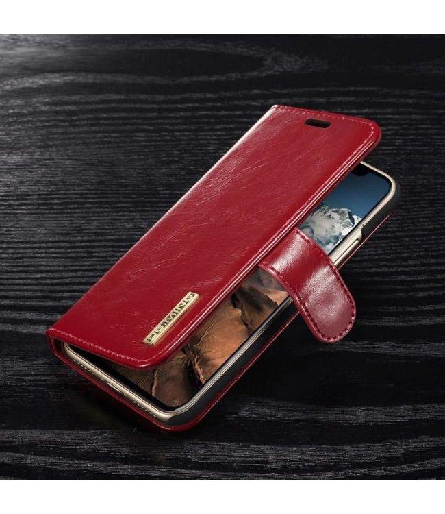 DG-Ming DG-Ming Magnetische Leren Wallet iPhone X - Rood