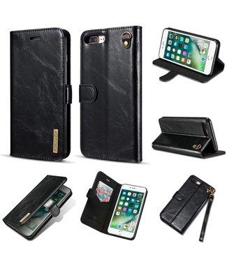 DG-Ming DG-Ming Luxe Magnetische Leren Wallet Verwijderbare Backcase iPhone 7/8 plus - Zwart
