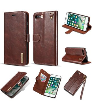 DG-Ming Magnetische Leren Wallet Backcase iPhone 7/8 plus - Bruin