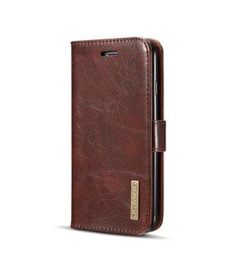DG-Ming DG-Ming Magnetische Leren Wallet met Verwijderbare Backcase iPhone 7/8 - Bruin