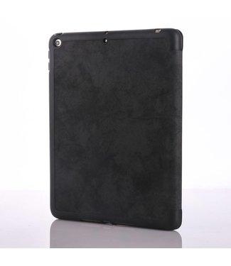 TVC Vintage stijl gevouwen PU lederen tabletstandaard met pengleuf voor iPad 9.7 (2018) /9.7 (2017) - Zwart
