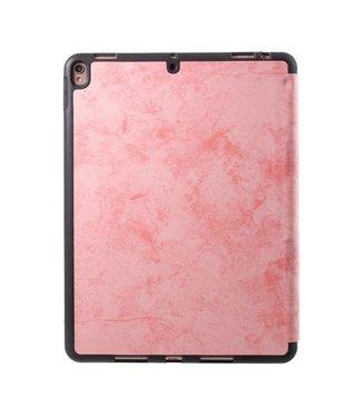 TVC Retro Lederen Drievoudige standaard iPad hoes met pen-opening voor iPad Pro 10.5-inch (2017) - roze