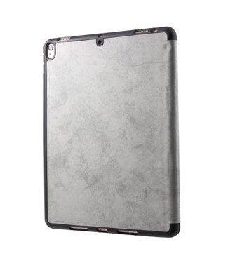 TVC Retro Lederen Drievoudige standaard iPad hoes met pen-opening voor iPad Pro 10.5-inch (2017) - Grijs